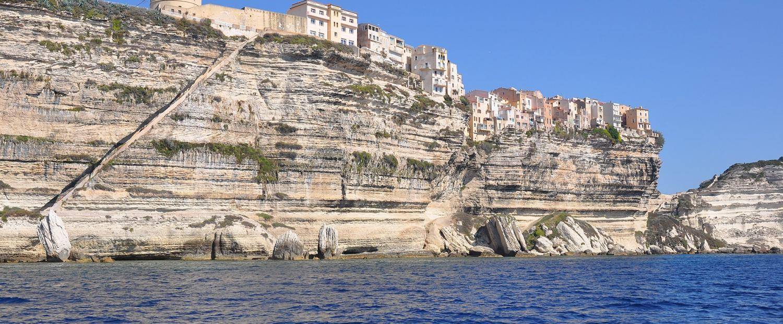 L'escalier du Roy d'Aragon à Bonifacio (Corse)